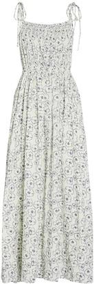 Apiece Apart Cecile Floral Print Midi Dress