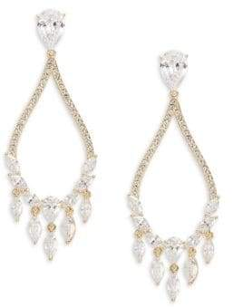 Nadri Teardrop Chandelier Earrings