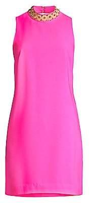 Lilly Pulitzer Women's Brandi Embellished Neck Shift Dress