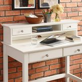 Crosley Campbell Writing Desk Hutch in White