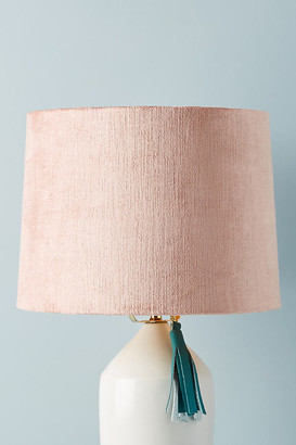 Anthropologie Solid Velvet Lamp Shade By in Grey Size M
