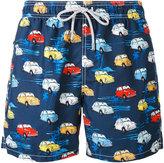 MC2 Saint Barth cars print swim shorts