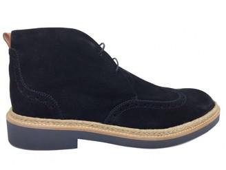 Louis Vuitton Navy Suede Boots