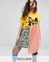 Reclaimed Vintage Inspired Customized Varsity T-Shirt Dress