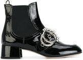 Miu Miu embellished buckle ankle boot