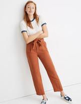 Madewell Petite Linen-Blend Paperbag Pants