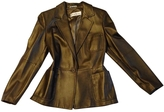 Max Mara Gold Leather Jacket