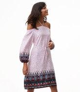 LOFT Vine Paisley Off The Shoulder Halter Dress