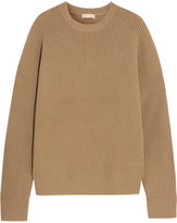 Michael Kors Ribbed Cashmere-blend Sweater - Camel