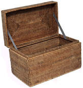 Trunks Artifacts Trading Company Artifacts Rattan Rectangular Hinged Chest, Honey Brown, Small