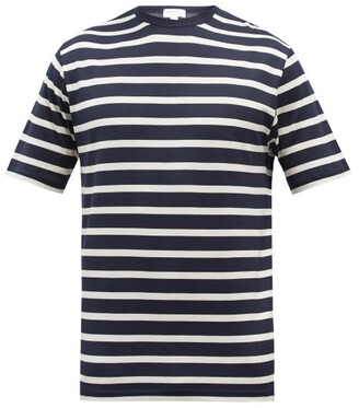 Sunspel Breton-stripe Cotton-jersey T-shirt - Navy Multi