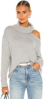 1 STATE Turtleneck Cold Shoulder Sweater