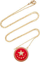 Foundrae Strength Petite Champleve Stationary Necklace