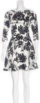 Suno Silk Tree Print Dress