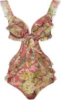 Zimmermann Melody Frill One Piece Swimsuit