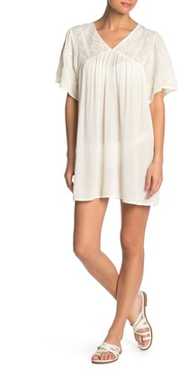 BOHO ME Embroidered Cover-Up Tunic Top