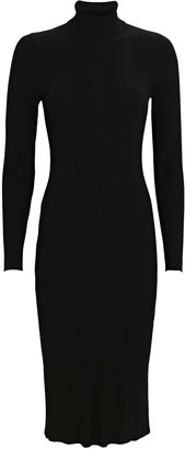 L'Agence Jeanne Turtleneck Knit Midi Dress