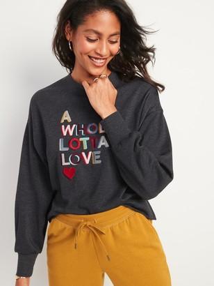 Old Navy Graphic Crew-Neck Sweatshirt for Women
