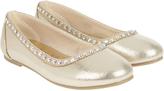 Accessorize Diamante Trim Ballerina Shoes
