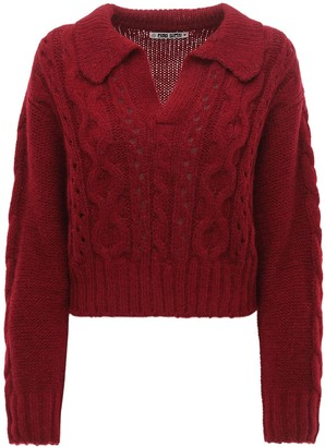 Ciao Lucia Torino Alpaca Blend Polo Sweater