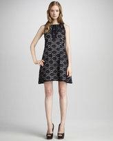 Phoebe Couture Sleeveless Halter Lace Eyelet Dress