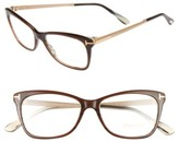 Tom Ford Women's 52Mm Cat Eye Optical Glasses - Dark Brown