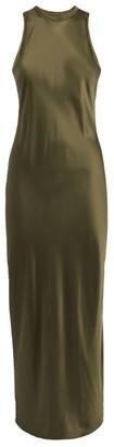 Frame Silk Bias Maxi Dress