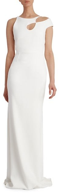 Thumbnail for your product : Roland Mouret Galata Asymmetrical Stretch Gown