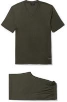 Ermenegildo Zegna Stretch-modal Jersey Pyjama Set - Green