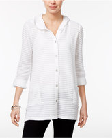 Style&Co. Style & Co Button-front Hoodie, Only at Macy's