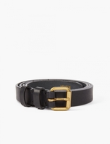 Kolor Black and Gold Leather Belt