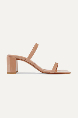 BY FAR Tanya Patent-leather Mules - Neutral