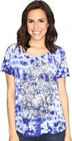 Lucky Brand Women's Floral Washed Tee