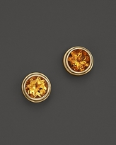 Bloomingdale's Citrine Bezel Set Stud Earrings in 14K Yellow Gold - 100% Exclusive