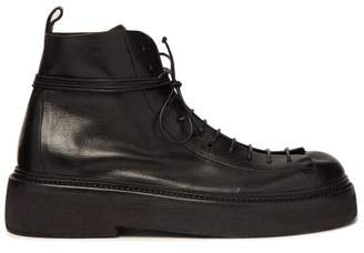 Marsèll Parruccona Leather Military Boots - Mens - Black