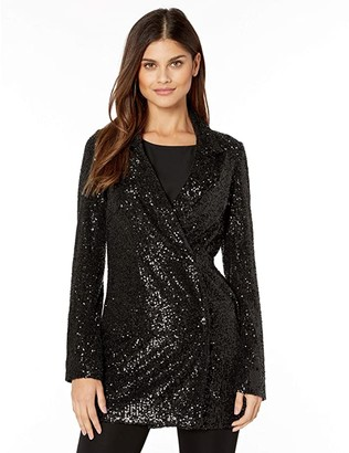 Show Me Your Mumu Bazel Blazer Dress (Limelight Sequins) Women's Clothing