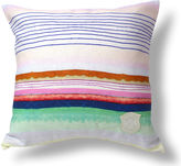 Kristi Kohut Sugared Stripe 18x18 Linen Pillow