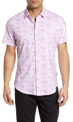 Stone Rose Regular Fit Mushroom Print Shirt