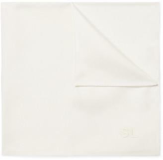 Saint Laurent Logo-Embroidered Silk-Twill Pocket Square