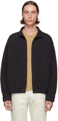 Lemaire Black Jersey Blouson Sweatshirt
