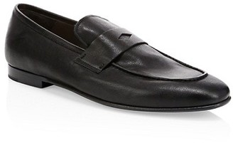 Dunhill Engine Turn Soft Leather Loafers