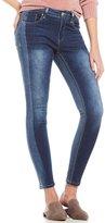 YMI Jeanswear Luxe Colorblocked Ankle Skinny Jeans
