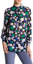 Anne Klein Long Sleeve Pattern Tunic