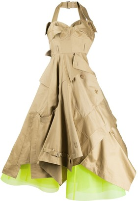 Junya Watanabe Halterneck Trench Dress