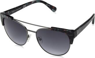 Diane von Furstenberg Women's Carine Oval Sunglasses BLUE BLUSH MARBLE 56 mm