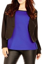 City Chic Plus Size Women's 'Cheeky' Peplum Jacket