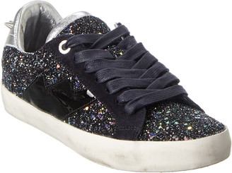 Zadig & Voltaire Used Glitter & Leather Sneaker
