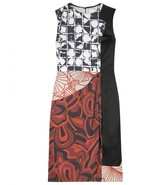 DAYA SILK DRESS WITH CONTRASTING PATTERNS