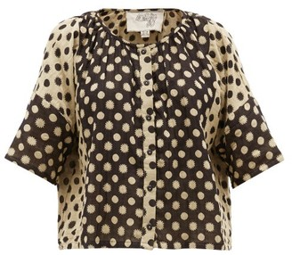 Ace&Jig Claude Polka-dot Cotton Top - Womens - Black Multi