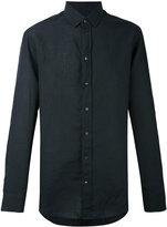 Armani Collezioni casual linen shirt - men - Linen/Flax - 38